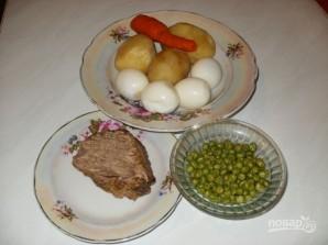 Столичный салат классический с говядиной - фото шаг 1