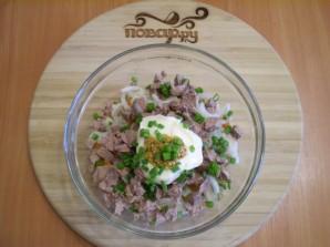 Салат с печенью куриной - фото шаг 7