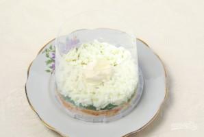 """Салат """"Мимоза"""" с рисом и сыром - фото шаг 6"""