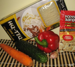 Салат из рисовой лапши по-корейски - фото шаг 1