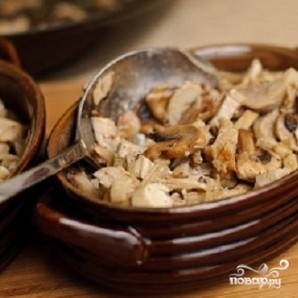 Жюльен с курицей и грибами - фото шаг 13