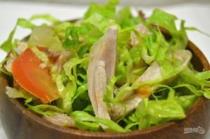 Салат с курицей и томатами - фото шаг 8