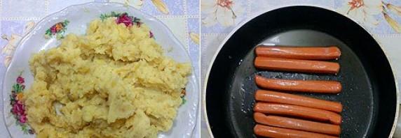 Картофельные зразы с сосиской - фото шаг 4