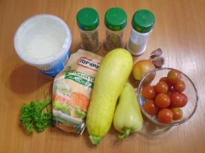 Овощи в духовке под соусом - фото шаг 1