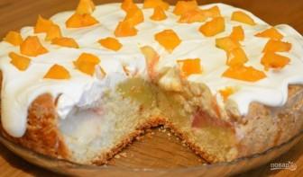 Нежный пирог с персиками - фото шаг 6
