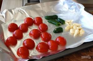 Сальса из запеченных томатов, чеснока и перца - фото шаг 2