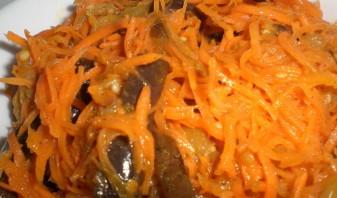 Синенькие с морковкой по-корейски - фото шаг 5
