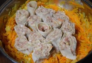 Манты в сковороде - фото шаг 4