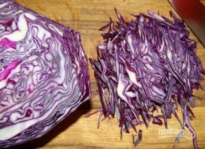 Салат из краснокачанной капусты - фото шаг 1