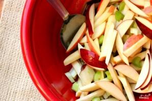 Салат из свежих яблок - фото шаг 4