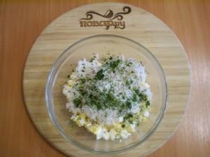 Лаваш с рисом и яйцом - фото шаг 5