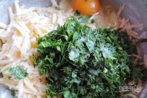 Лепёшки с сыром в духовке - фото шаг 3