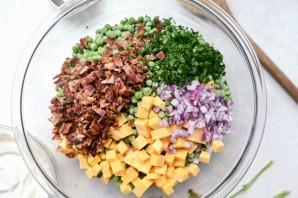 Салат из гороха и бекона - фото шаг 2