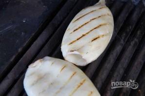 Салат из кальмаров с креветками - фото шаг 4