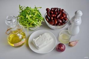 Салат из красной фасоли с творожным сыром - фото шаг 1