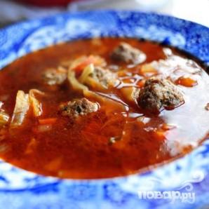 Итальянский суп с фрикадельками - фото шаг 17
