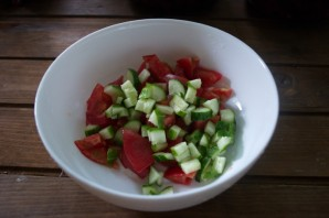 Салат с фетой и курицей - фото шаг 2