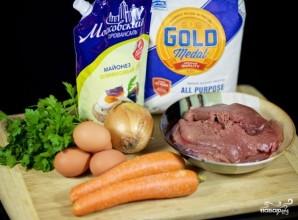 Салат с жареной печенью - фото шаг 1