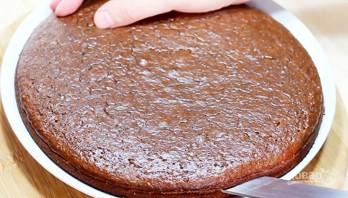 Шоколадный пирог с заварным кремом - фото шаг 8