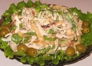 Салат блинный с ветчиной - фото шаг 5