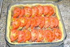 Открытый мясной пирог с картофельным тестом - фото шаг 15