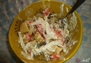 Салат картофельный с огурцами - фото шаг 4