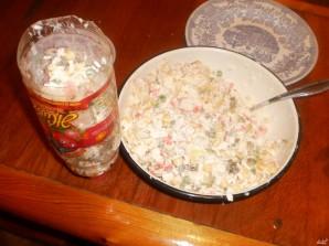 Постный салат с крабами - фото шаг 2