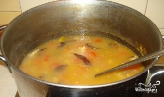 Гороховый суп с копчеными рёбрышками - фото шаг 8