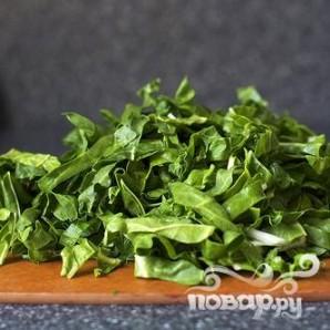 Сливочный соус с луком и мангольдом - фото шаг 1
