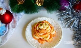 """Фруктовый салат """"Новогодняя ёлка"""" - фото шаг 4"""