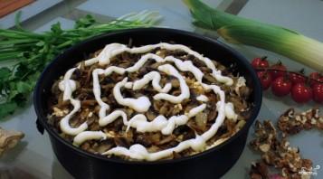 Куриный салат с грибами и сыром - фото шаг 4