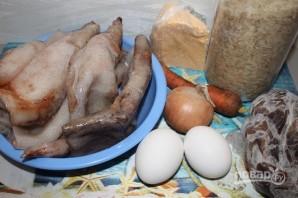Кальмары, фаршированные рисом и морковью - фото шаг 1