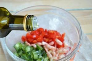 Постный салат с креветками - фото шаг 5
