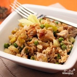 Коричневый рис с индейкой и овощами - фото шаг 7