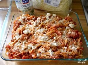 Запеченные спагетти с сосисками - фото шаг 9