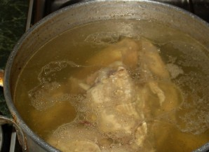 Суп с грибами и сыром   - фото шаг 1