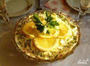 Салат с маринованными шампиньонами - фото шаг 10
