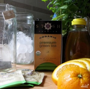 Зеленый чай с мятой - фото шаг 1