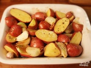 Новогодний гусь с яблоками и тмином - фото шаг 9