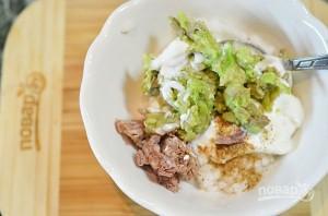 Паштетный салат из авокадо и риса - фото шаг 5