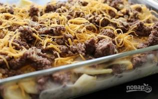 Фарш, картошка и сыр в духовке - фото шаг 9