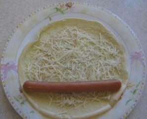 Блины с сосиской - фото шаг 3
