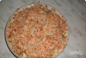 Салат из картофеля с копченой горбушей - фото шаг 9