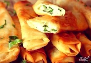 Лаваш с сыром и зеленью в духовке - фото шаг 5