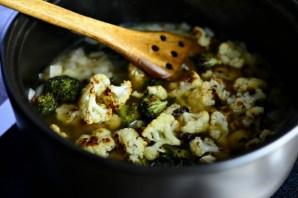 Суп из брокколи и цветной капусты - фото шаг 12
