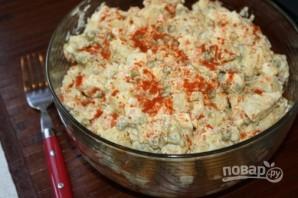 Картофельный салат с яйцом - фото шаг 7