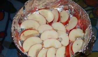 Шарлотка с яблоками без масла - фото шаг 5