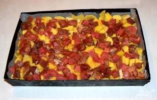 Картофель с мясом и грибами - фото шаг 2