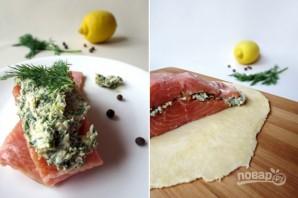 Пирог с лососем - фото шаг 2