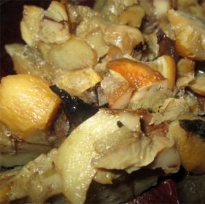 Кальмары, фаршированные грибами и сыром - фото шаг 4